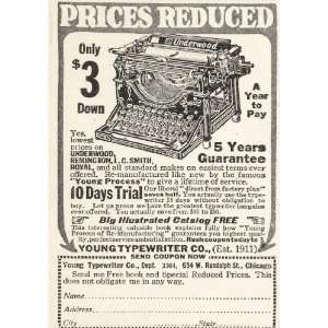 1925 Original Print Ad Young Underwood No. 4 Typewriter