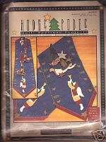 HODGE PODGE TABLE RUNNER CHRISTMAS APPLIQUE KIT #1463