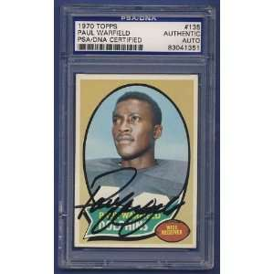 1970 Topps Paul Warfield signed #135 Card PSA/DNA  Sports