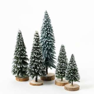 Dept 56 Snow Covered Pines Tree Accessory Set of 5 NEW D56 Christmas