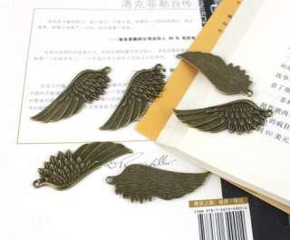 15PCS Antiqued Bronze Wing Charm 58x22mm FC9672B
