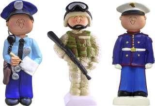 Military Law Enforcement Christmas Figure Ornament 811823012237