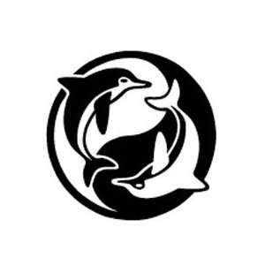Ying Yang Dolphin Colorful Temporary Tattoo Beautiful Colors
