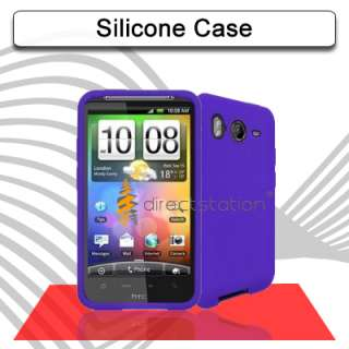 Purple TPU Silicone Gel Skin Case For HTC Desire HD A9191