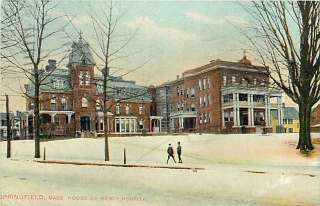 MA SPRINGFIELD HOUSE OF MERCY HOSPITAL SNOW MAILED 1909 R58507