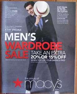 Macys Catalog 2011 Men Fashion Wardrobe Shoe Accessori