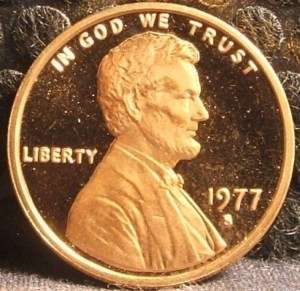 1977 S U.S. Lincoln Memorial Penny 1 Cent Coin (1)