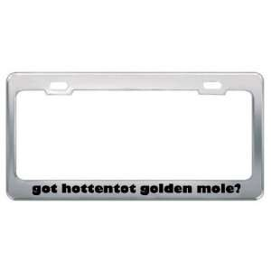 Got Hottentot Golden Mole? Animals Pets Metal License Plate Frame