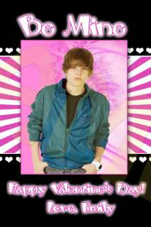 Justin Bieber Valentines Day Valentine Card for School