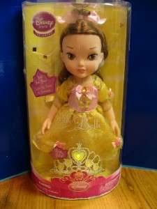 Toddler Princess Belle Doll NIB Tiara