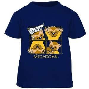 Michigan Wolverines Navy Toddler Windows T shirt Sports
