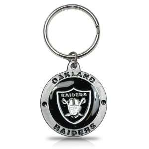 Oakland Raiders Logo Metal Key Chain, Official Licensed: Automotive
