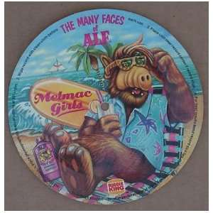 Alf Melmac Girls Cardboard Record From Burger King Kid`s