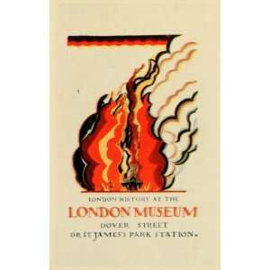 1927 Mini Poster E. McKnight Kauffer London Fire Museum James Park