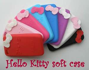 Hello Kitty Soft Back Cover Case Skin for iPhone 4 4G