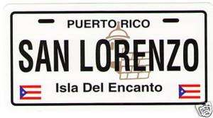 SAN LORENZO, PUERTO RICO, CAR STICKER, DECAL