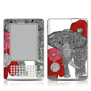 The Elephant Design Protective Decal Skin Sticker for  Kindle 2