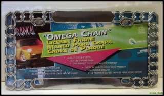 License Plate Frame Chain Die cast Chrome Finish NEW