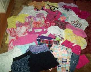 HUGE 30 PC LOT girls JUSTICE spring & summer clothes Sz 10 12 EUC