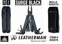 Leatherman Tactical Black Surge & Molle Sheath #830278