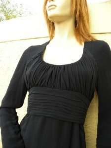 AMAZING KARL LAGERFELD BLACK SILK COUTURE DRESS SZ 38
