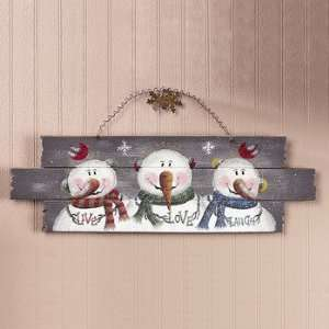Live Love Laugh Snowmen Sign   Party Decorations & Wall Decorations