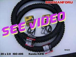 Bicycle 20 x 2.0 Bike BMX Kenda 2 TIRE TUBE RIM STRIP
