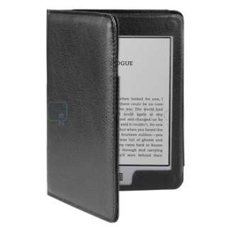 For  Kindle Touch Black Premium Plain Leather Case Cover