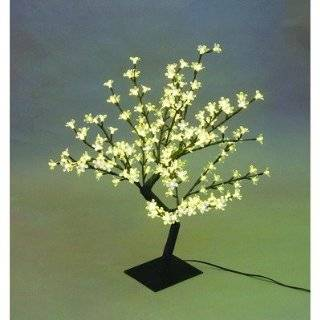 Exhart 53583 Color Changing Cherry Blossom Tree, Silver, 90 LED Lights