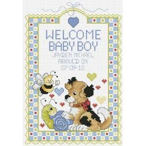 Welcome Baby Boy   Cross Stitch Kit Arts, Crafts & Sewing