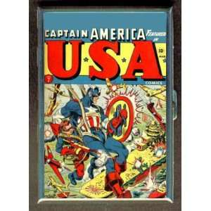 CAPTAIN AMERICA 40s COMIC BOOK CIGARETTE ID CASE WALLET