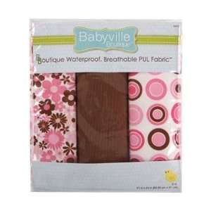 Babyville Boutique Packaged PUL Fabric, Mod Girl Flowers