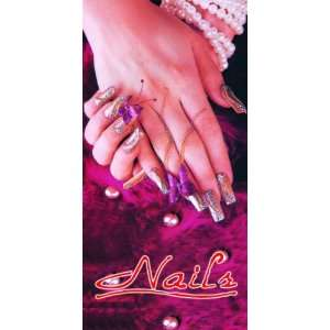 Nail Salon Window Decal Poster 4 x 2 ft, NWP 11