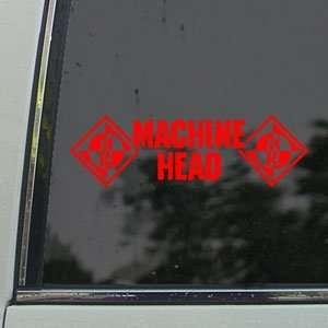 Machine Head Red Decal Metal Rock Band Window Red Sticker