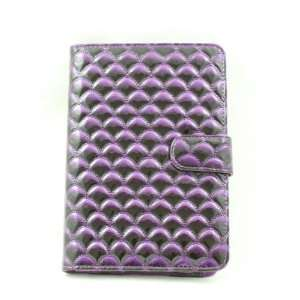 Cuffu Luxious Design Wave Purple Leather Case for Galaxy