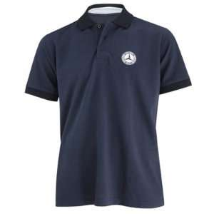 Mercedes Benz Classic Mens Blue Polo Shirt, 2X Large