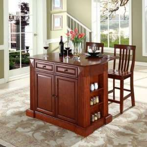 Kitchen Island Counter Breakfast Bar With Two Natural