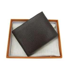 Hermes Men Wallet Genuine Leather Dark Brown Everything
