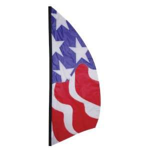 Stars Stripes Red White & Blue July 4th 8 1/2 Feet Feather Banner Flag