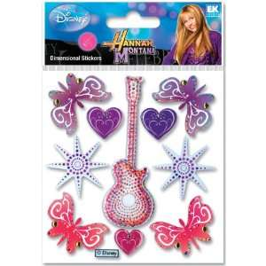 Disney Hannah Montana Dimensional Sticker Guitar & [Office