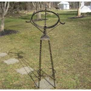 Armillary Sundial 58 HIGH W/wrought Iron Stand 25