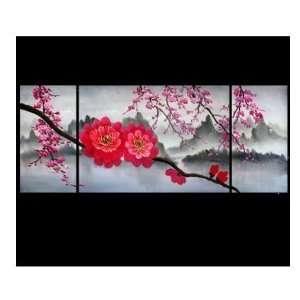 Japanese Cherry Blossom oil Painting Bang Art