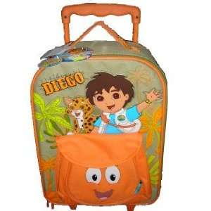 Explorers Go Diego Go 18 Rolling Luggage with Attached Animal Rescue
