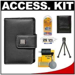 Nikon Coolpix 9412 Leather Carrying Case + Accessory Kit for S60, S70