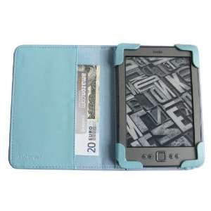 com AQUA mCover® Leather Folio Cover Case with built in inner pocket
