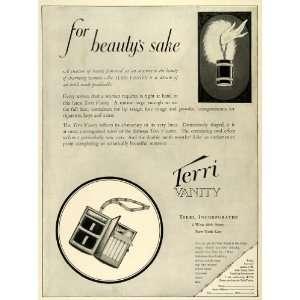1924 Ad Terri Vanity Womens Beauty Clutch Handbag Purse