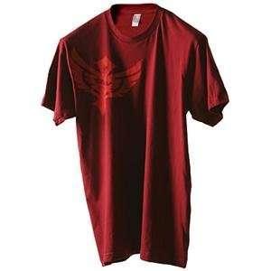 Fly Racing Badge T Shirt   2010   Medium/Cranberry