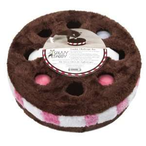 Savvy Tabby Plush Cookie Challenge Cat Toy with Particle