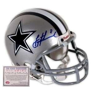 Troy Aikman Dallas Cowboys NFL Hand Signed Mini Helmet