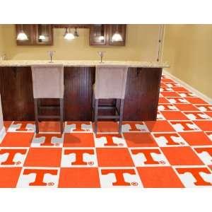 NCAA 18 Tennessee Volunteers Carpet Floor Tiles Covers 45 Square Ft